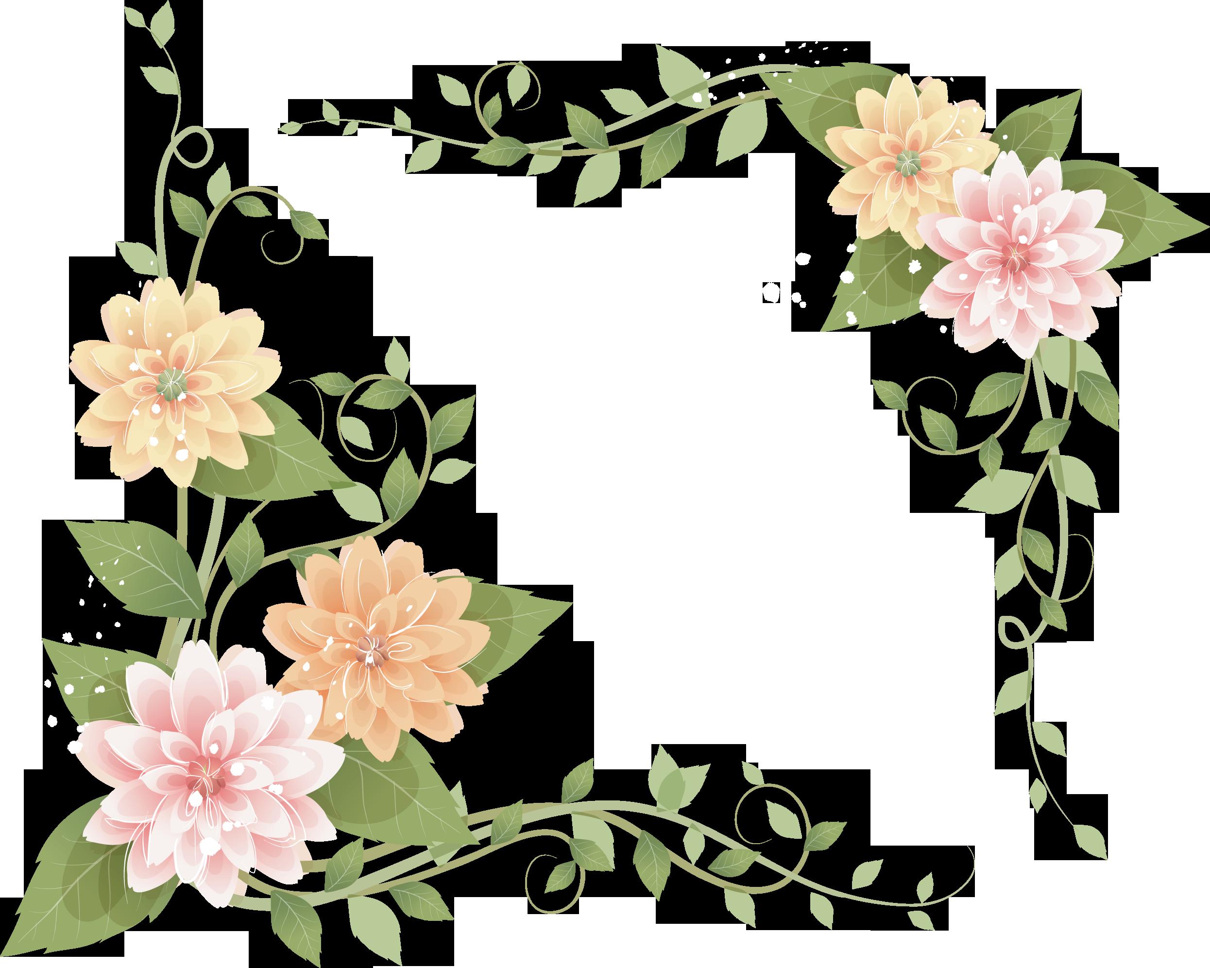 Открытках, картинки цветы в углу