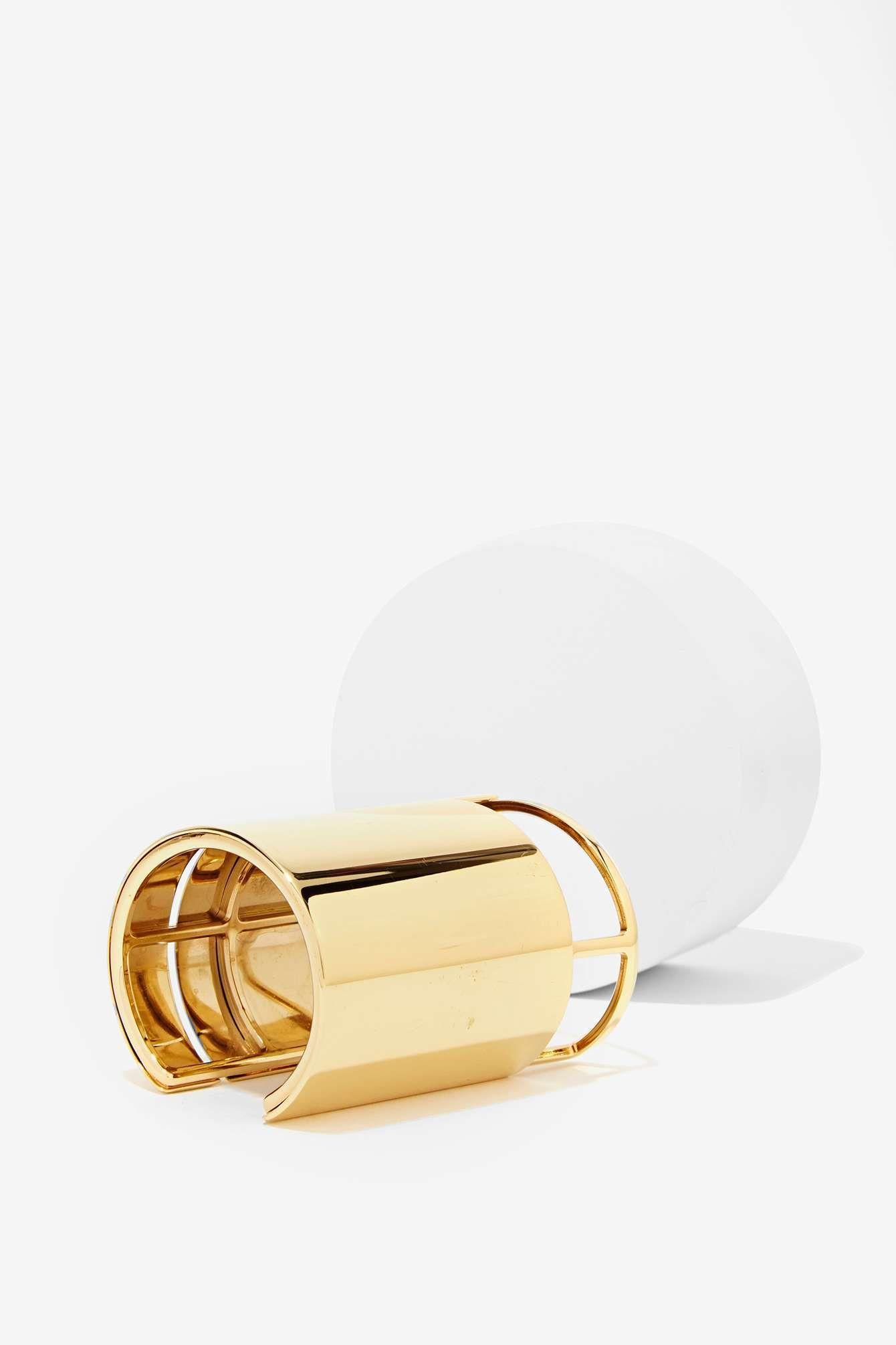 Lanvin Gold Cutout Cuff