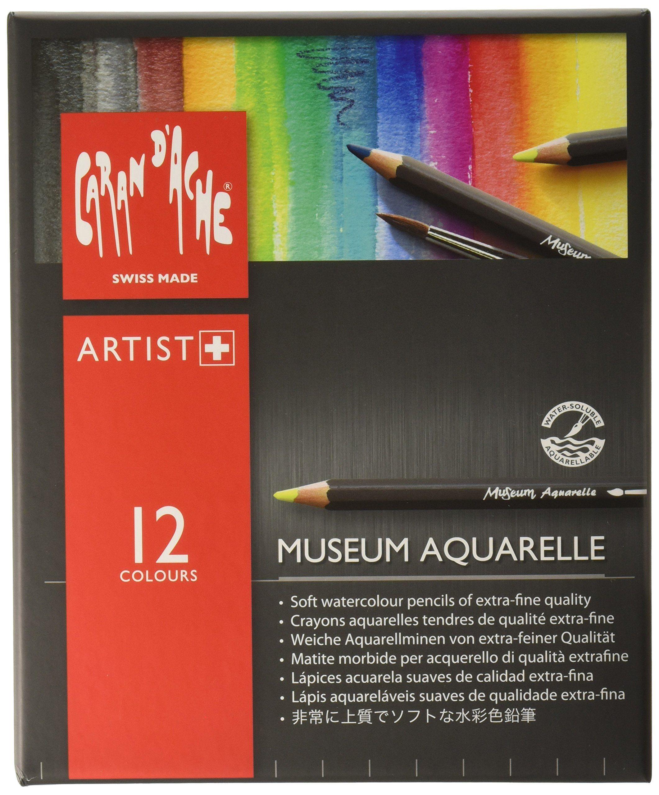 Caran D Ache Museum Aquarelle Pencil Sets Museum Intro Set Of 12