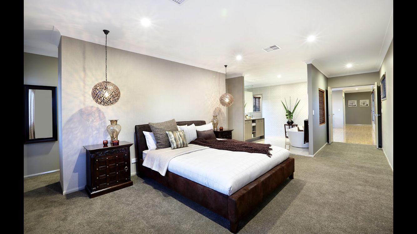 Master bedroom pendants, double doors, open bathroom | Dream Home ...