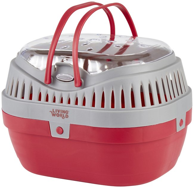 Buy Living World Small Animal Carrier, Red & Grey, Large