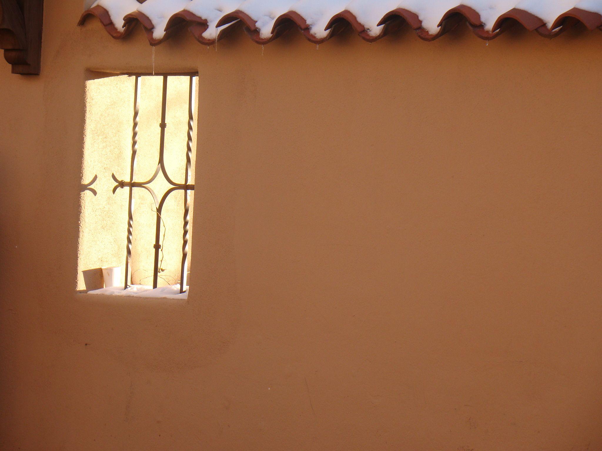 open window in wall