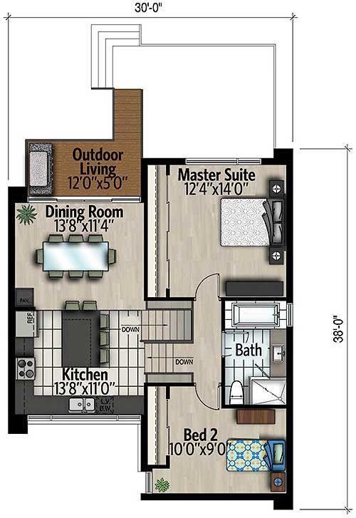 Plan 90304pd Sleek Modern House Plan Modern House Plan House Plans Modern House