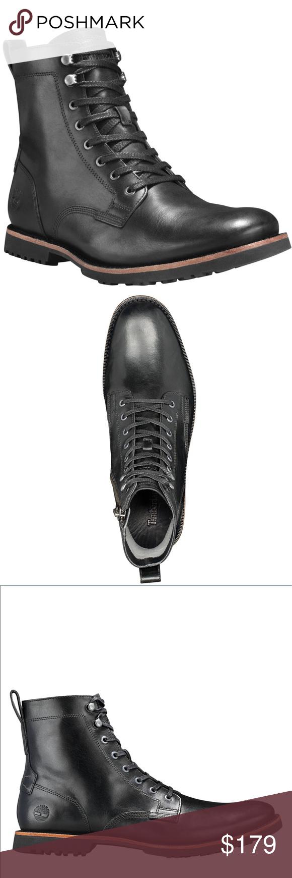 b38898ec78 TIMBERLAND MEN'S KENDRICK SIDE-ZIP BOOTS Premium full-grain leather uppers  Side zips OrthoLite