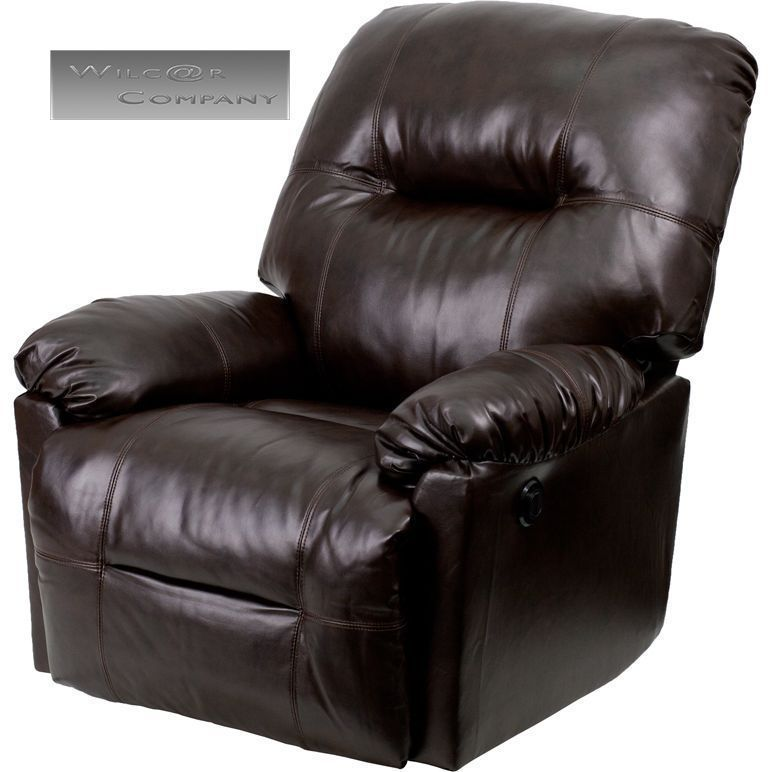 New Brown Leather Power Recliner Lazy Boy Reclining Chair Furniture Barcalounger | eBay /  sc 1 st  Pinterest : big and tall recliner lazy boy - islam-shia.org