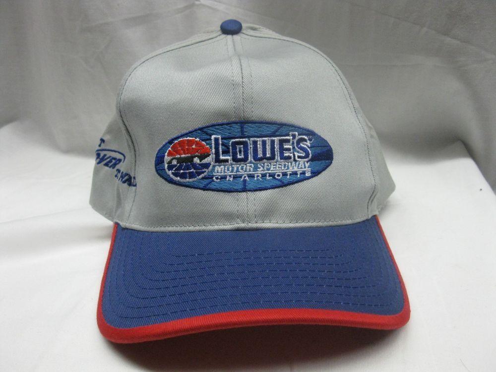 468278773cd53 Vintage Lowes NASCAR Charlotte Motor Speedway Ball Cap 1 Sz Fits All Hat   fashion