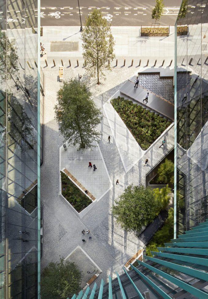 scape recalls diagonal paths of the l u2019enfant plan for washington  d c  for midtown center plaza