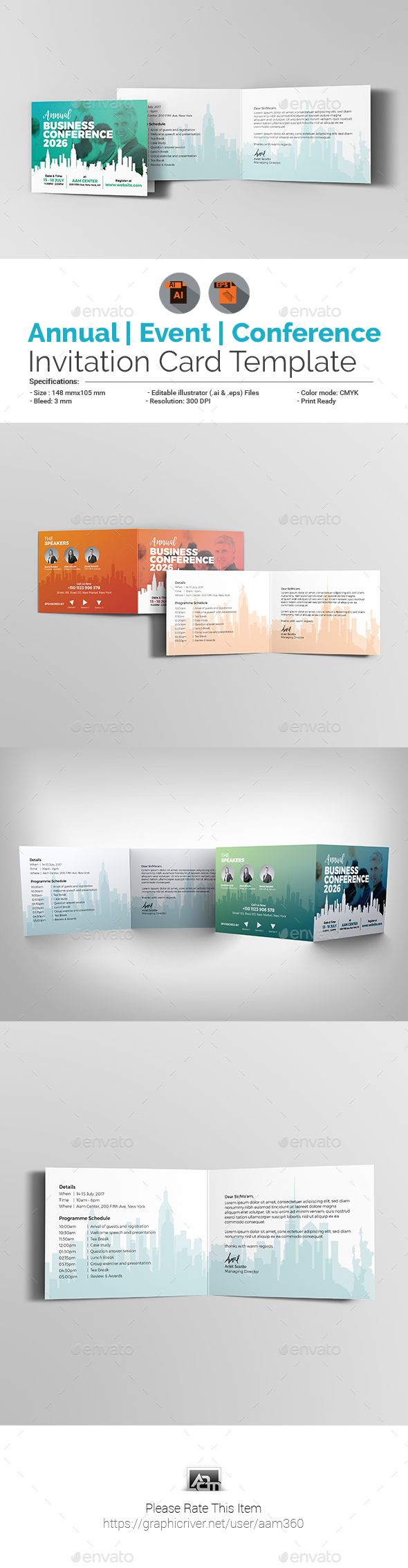 Annual Business EventConference Invitation Card  Business Events