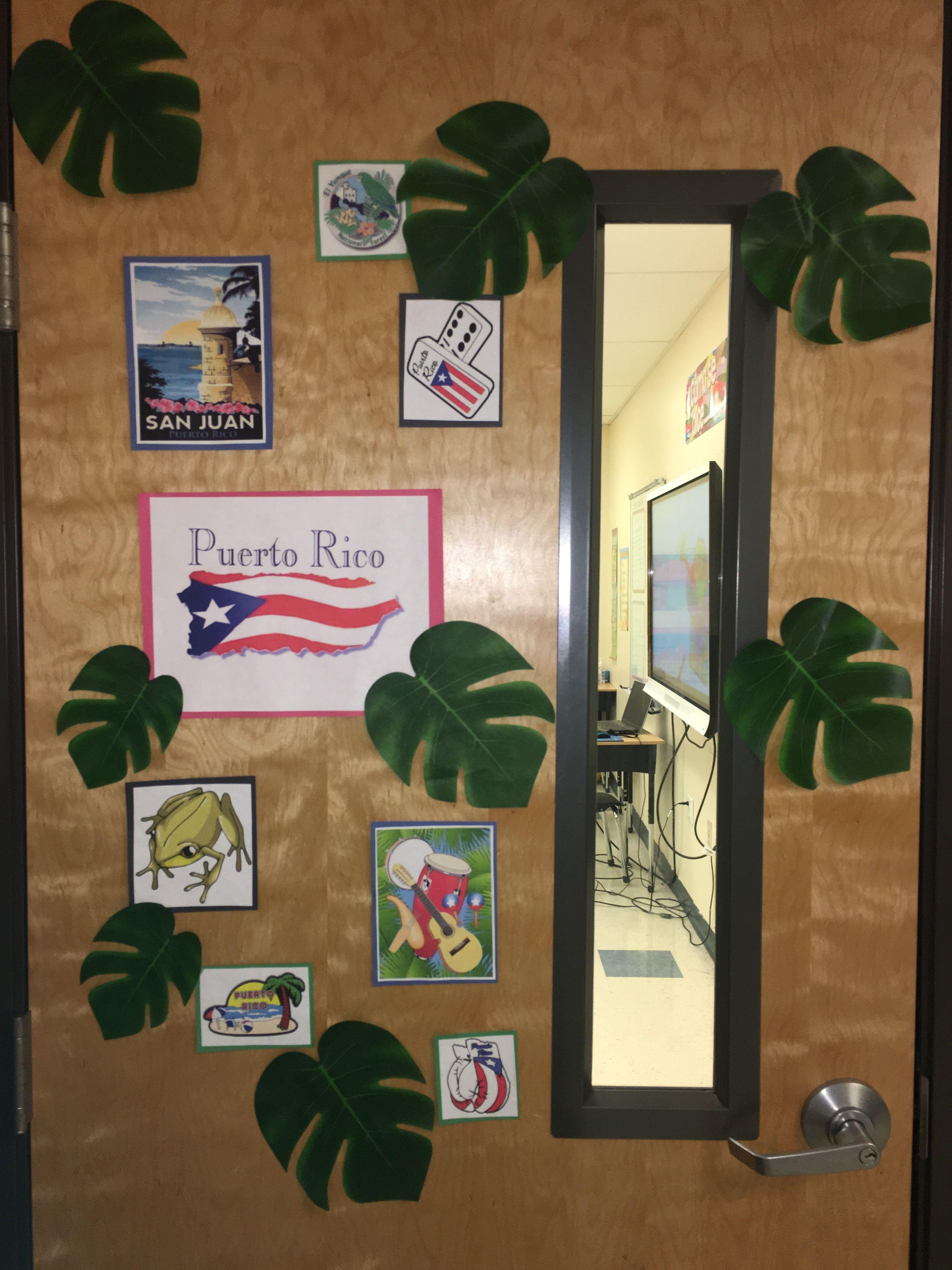 Puerto Rico Classroom Door Decoration Idea  Products I -3258