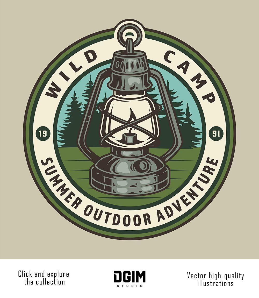 Vintage Camping Designs Adventure Logo Outdoor Logos Vintage Camping