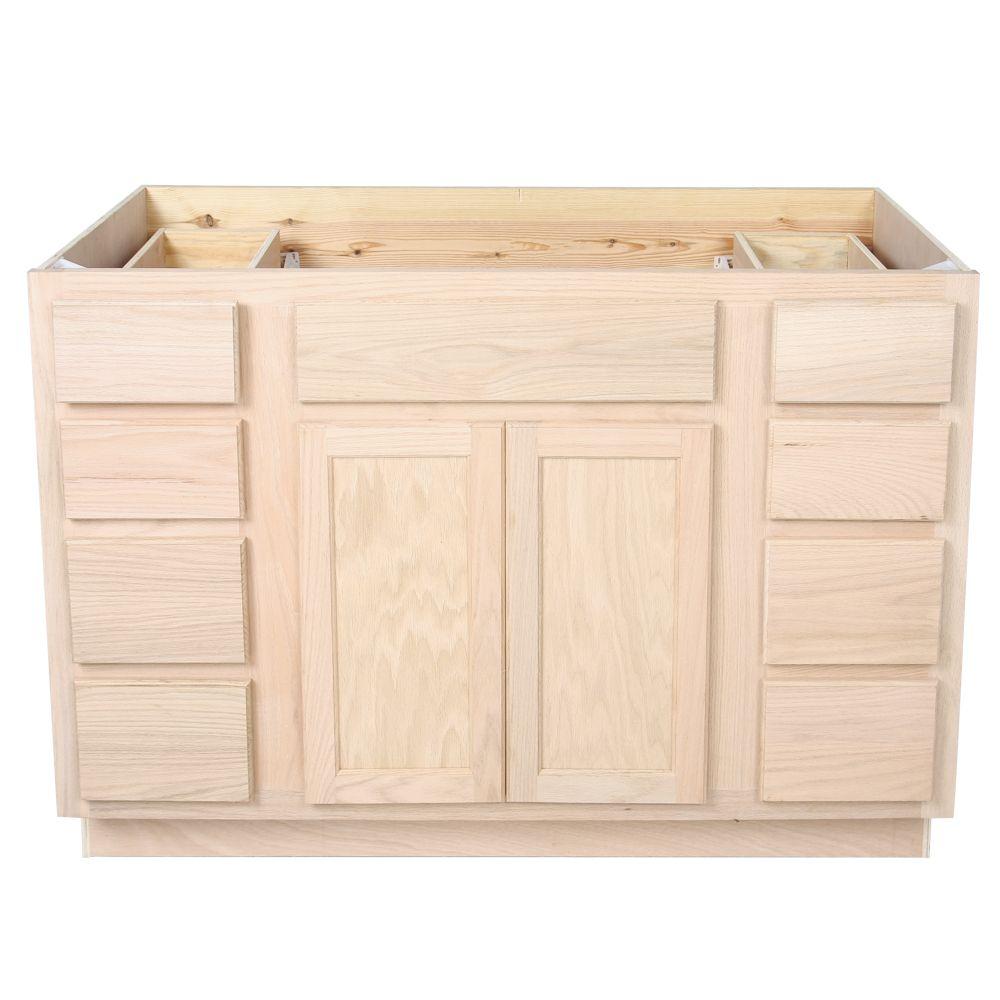 unfinished oak bathroom vanity sink and