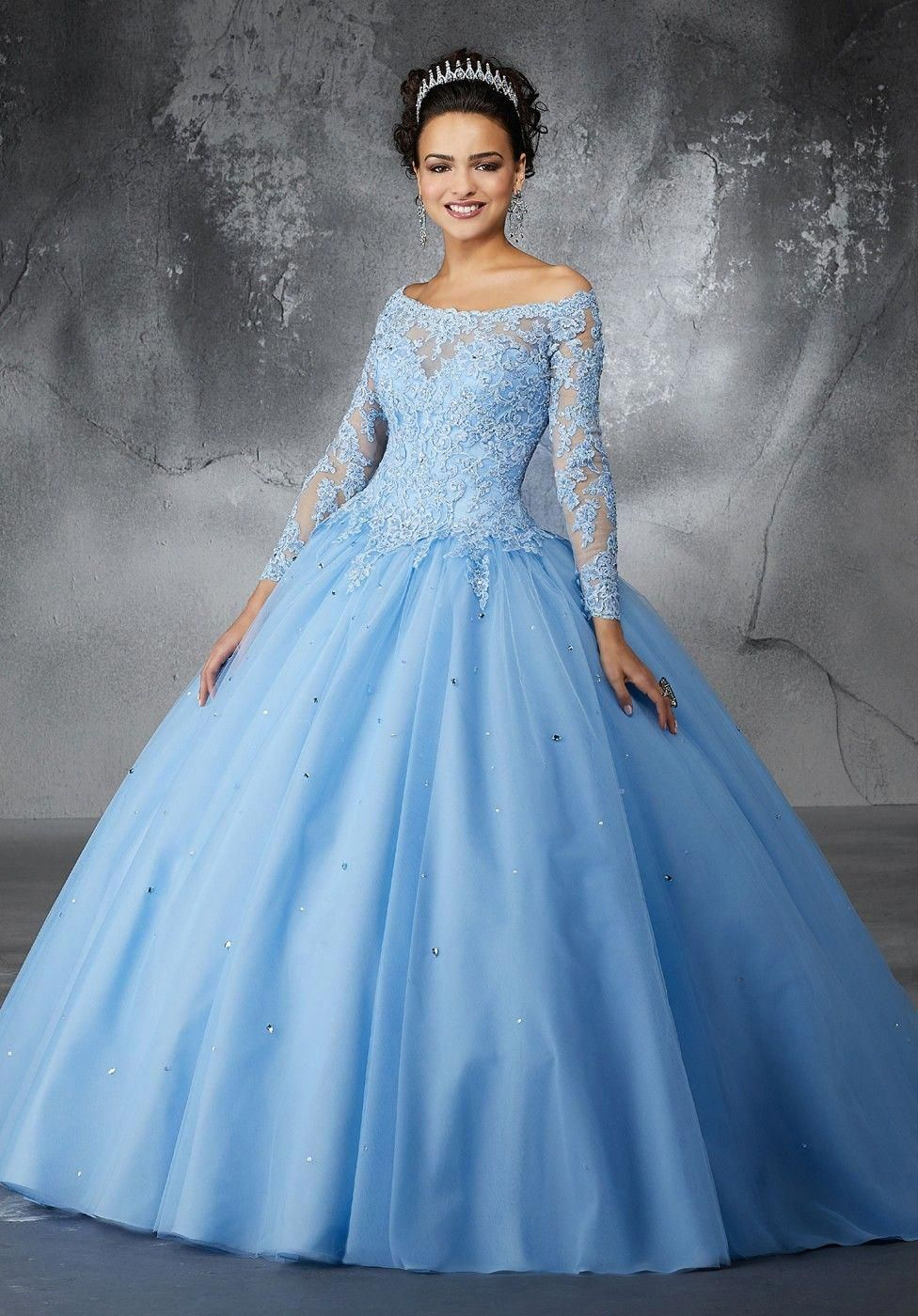 3b95007334e Mori Lee - Dress Style 60052  ModestSkirts Long Sleeve Quinceanera Dresses