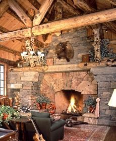 Standout Stone Fireplace Pictures Extra Extraordinary
