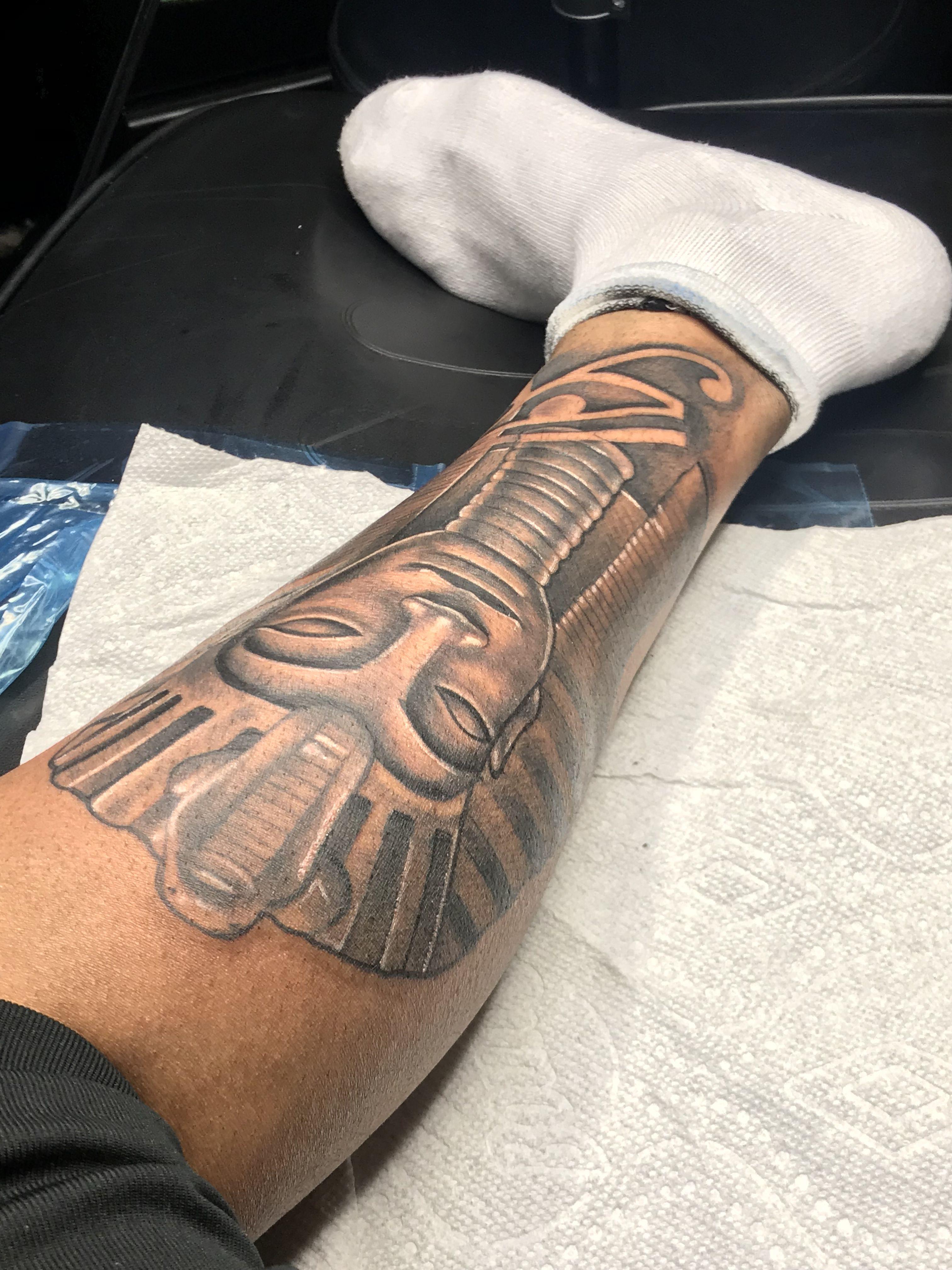 King tut tattoo king tut tattoo tattoos thigh tattoo