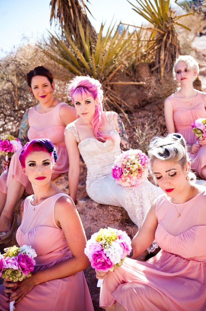 Breaking Vegas Punk Rock Wedding at The Flamingo · Rock n