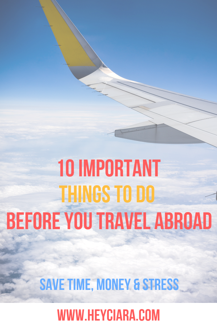 10 Things To Do Before You Take An International Trip Pre Departure Checklist International Travel Checklist Traveling By Yourself Travel Blog