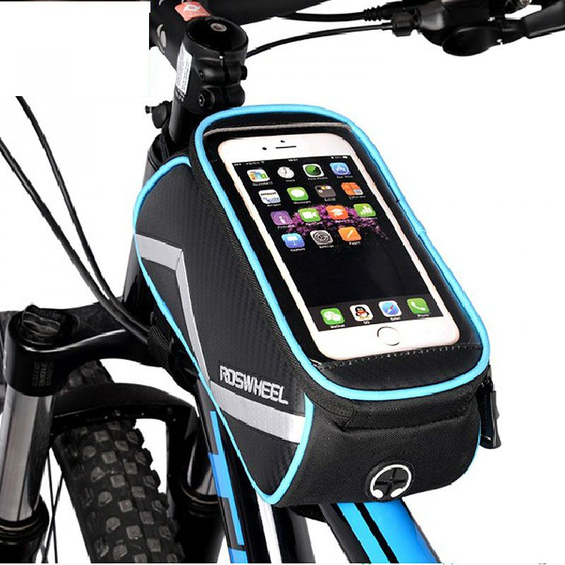 Cycling Bike Bicycle Touch Screen Frame Pannier Tube Bag For 6.2/'/' Mobile Phone