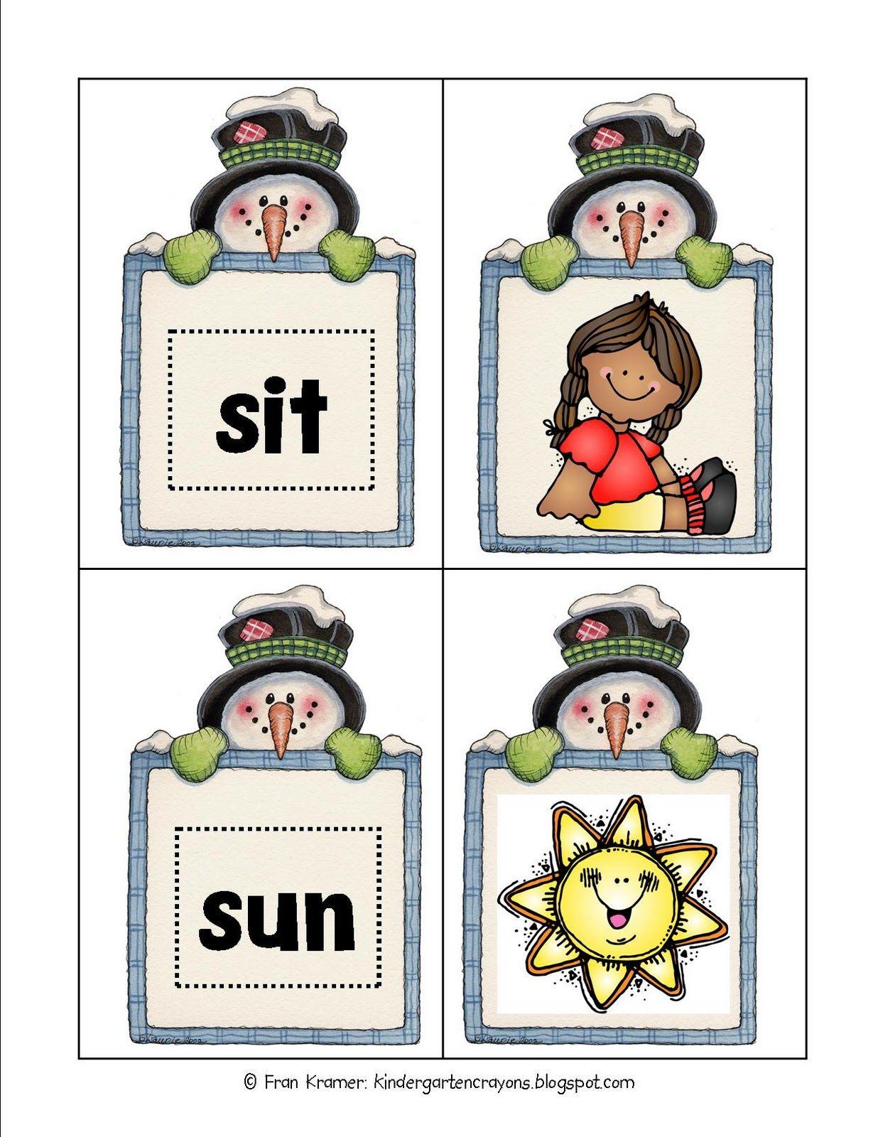 Kindergarten Crayons Cvc Blending