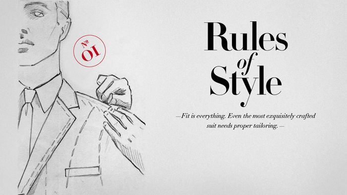 Fit is everything. Even the most exquisitely crafted suit needs proper tailoring. #RulesofStyle