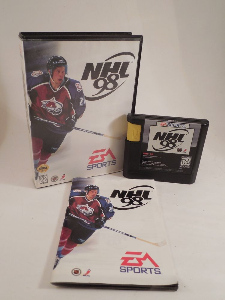 NHL 98 SEGA Genesis Cartridge with Case & Instruction