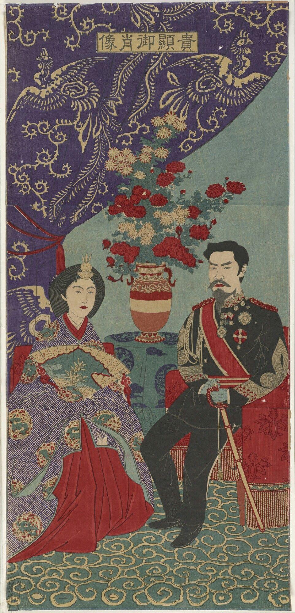 emperor meiji and empress haruko 大正 幕末 写真