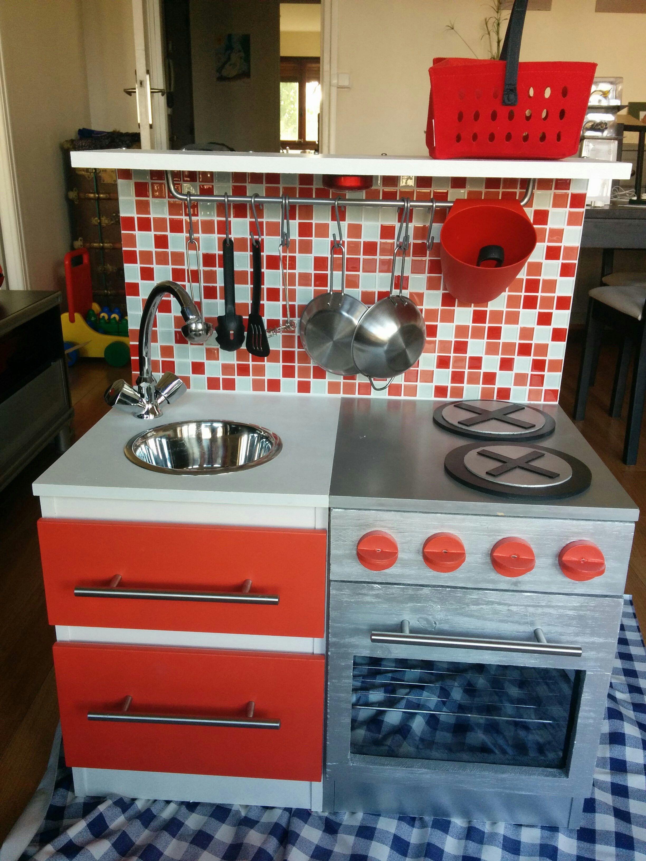 diy fabriquer cuisine enfant | brico-recycle | pinterest ... - Fabriquer Une Cuisine En Bois Pour Enfant