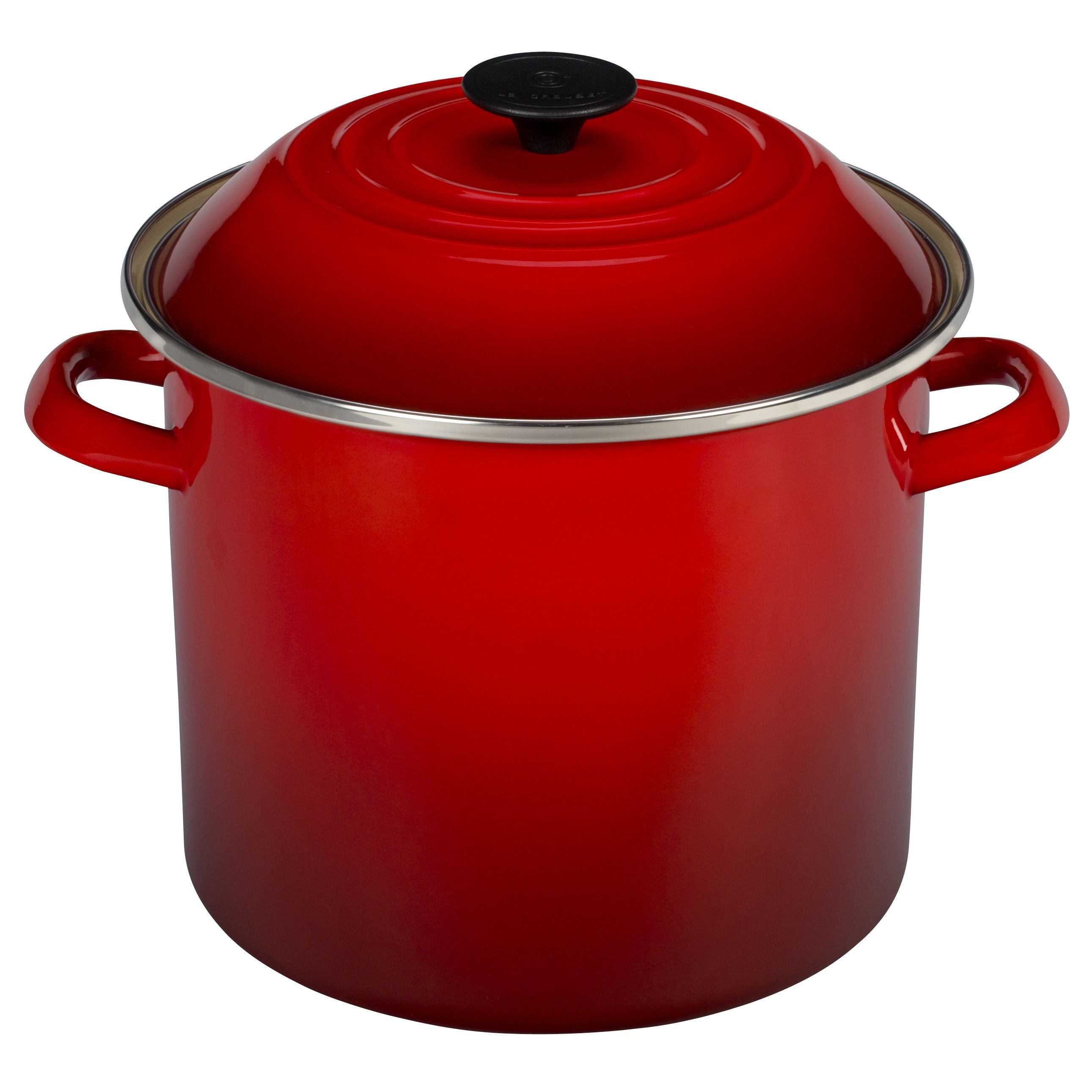 Le Creuset Enamel On Steel Stock Pot With Lid Steel Stock Le