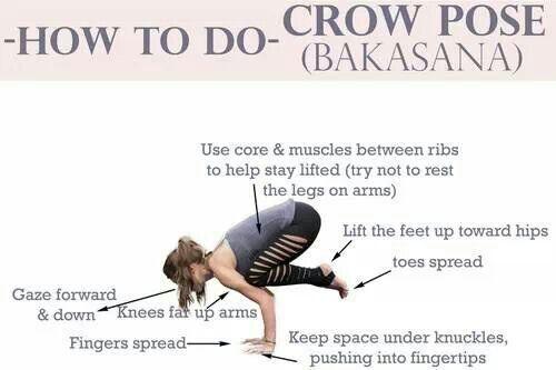 The #crowpose #bakasana #yoga ! Image