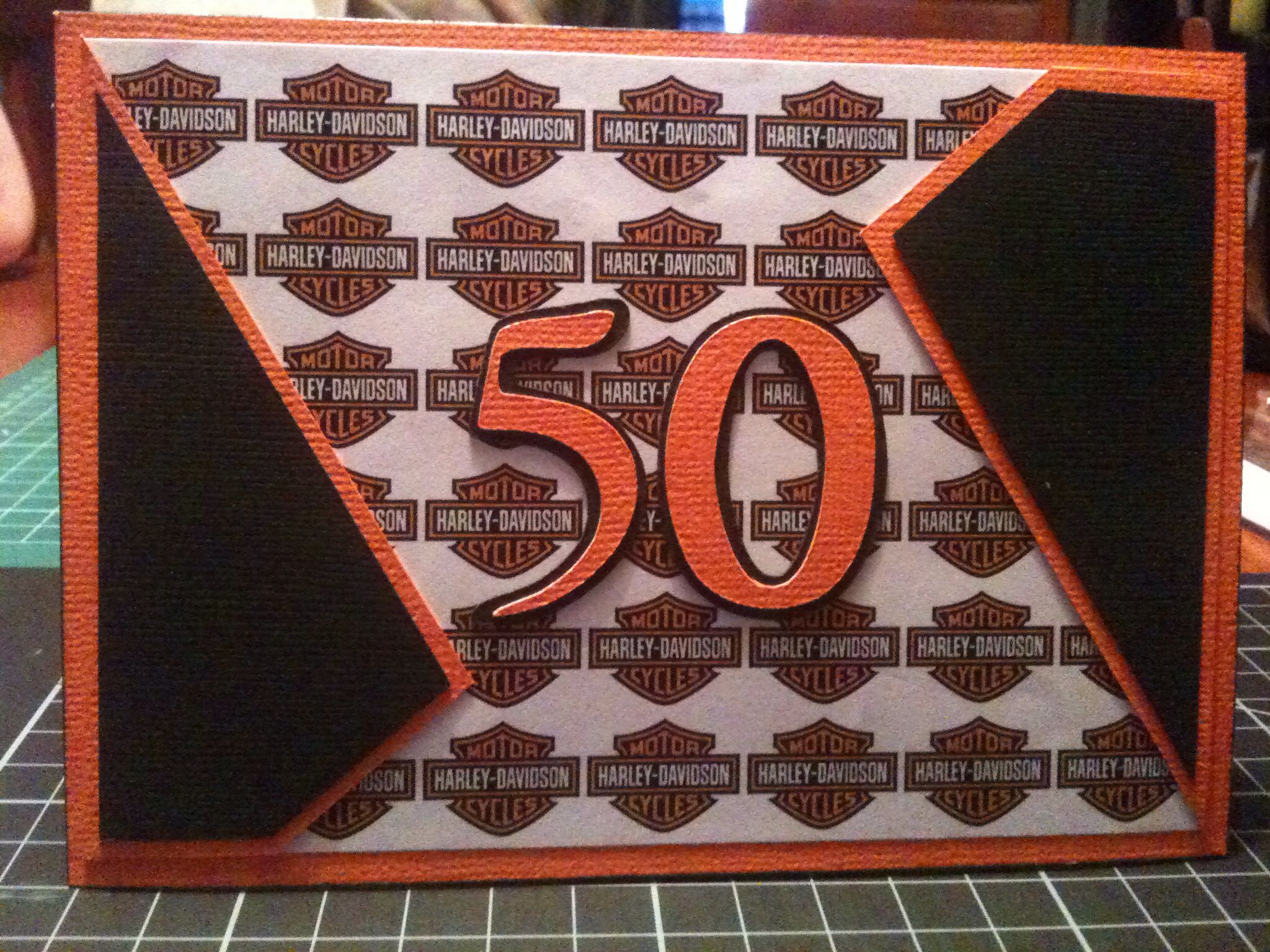 50th Harley Davidson On Birthday Card Cards Pinterest Cards
