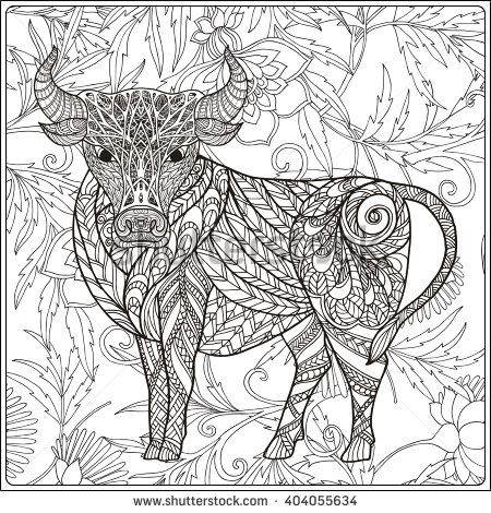 Coloring Book For Adult And Older Children Page