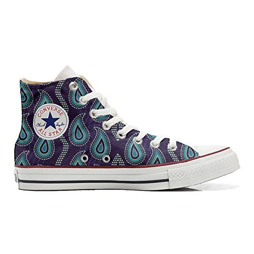 Converse All STar CUSTOMIZED  Sneaker Unisex printed Italian style Quirky Paisley
