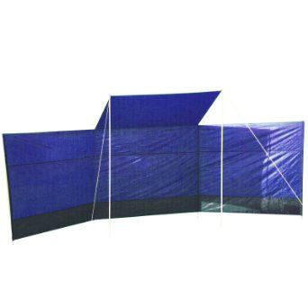 Wind Break with Sun Canopy Blue Camping Fishing Beach Shield Shelter Shade Screen: Amazon.co.uk: Sports  Outdoors