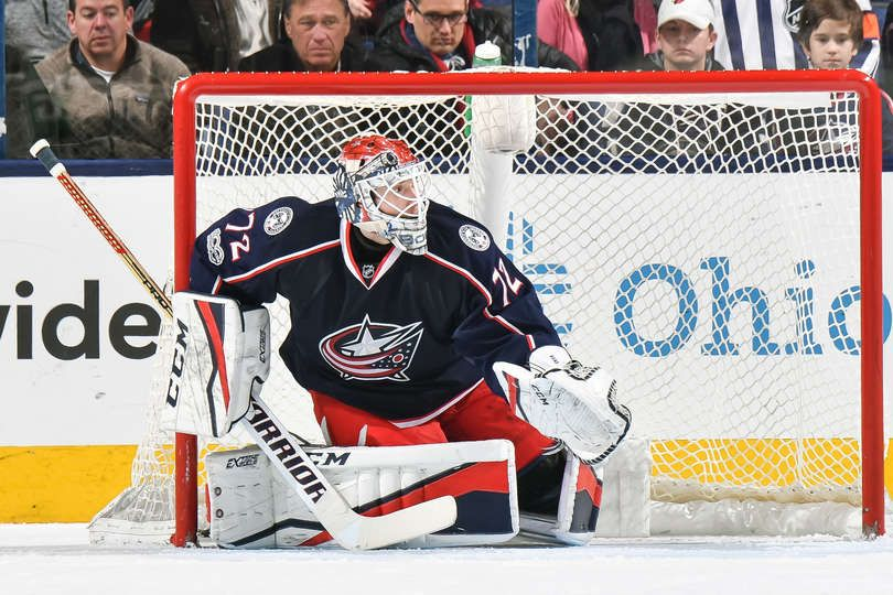COLUMBUS, OH - FEBRUARY 9: Goaltender Sergei Bobrovsky #72 of the Columbus Blue Jackets defends the net against the Vancouver Canucks on February 9, 2017 at Nationwide Arena in Columbus, Ohio. Vancouver shutout Columbus 3-0. (Photo by Jamie Sabau/NHLI via Getty Images)