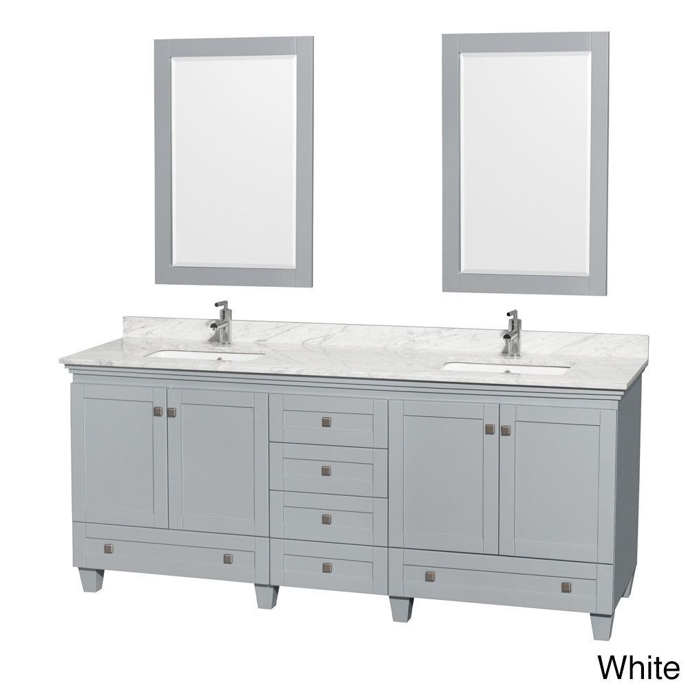 Wyndham Collection Acclaim 80 Inch Oyster Grey Double Vanity With