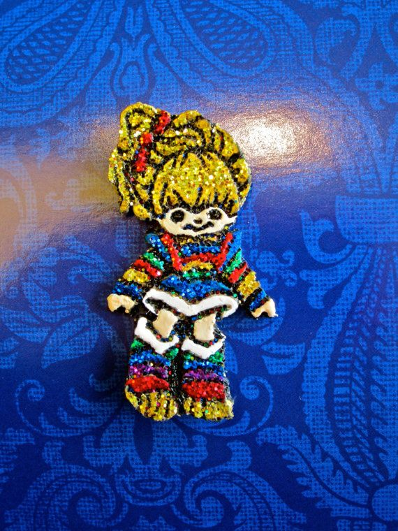 Rainbow Brite Boutique Bow Center Polymer Clay by moquerie on Etsy, $7.00