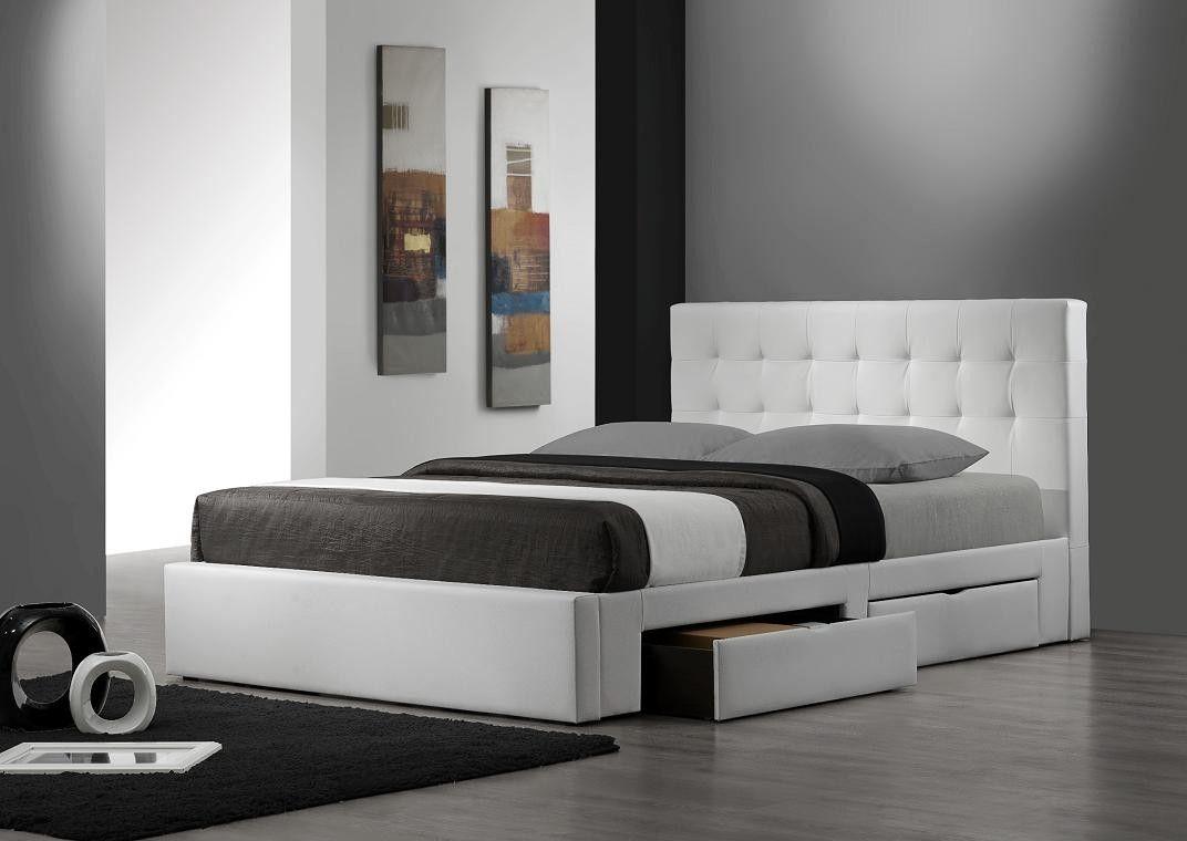 bed cu contenitore letti platform letto depozitare wayfair paturi beds king matrimoniali lada camera frame drawers pat queen sertare dormitoare