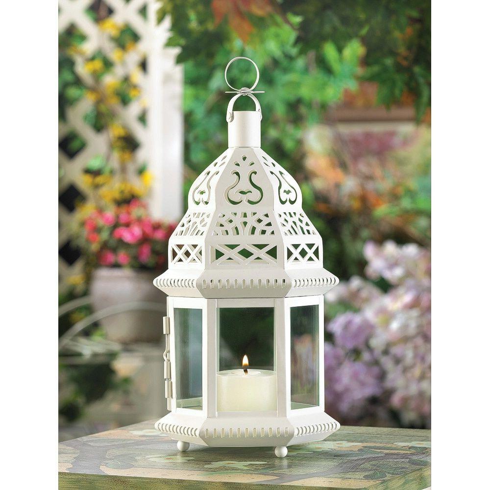 Wholesale White Moroccan Style Lantern Moroccan Candles White