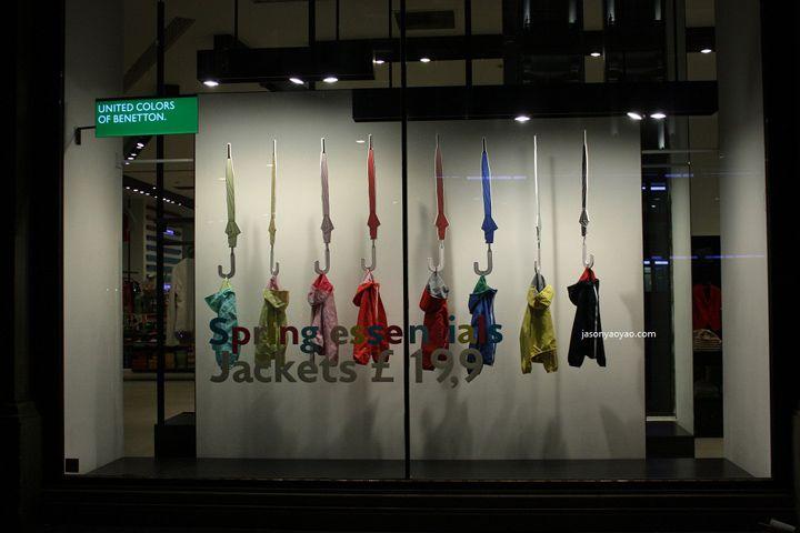 Benetton windows at Regent street, London visual merchandising