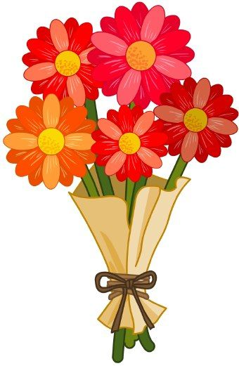flowers clip art clipart panda free clipart images christmas rh pinterest com bouquet of flowers clipart free bouquet of roses clipart