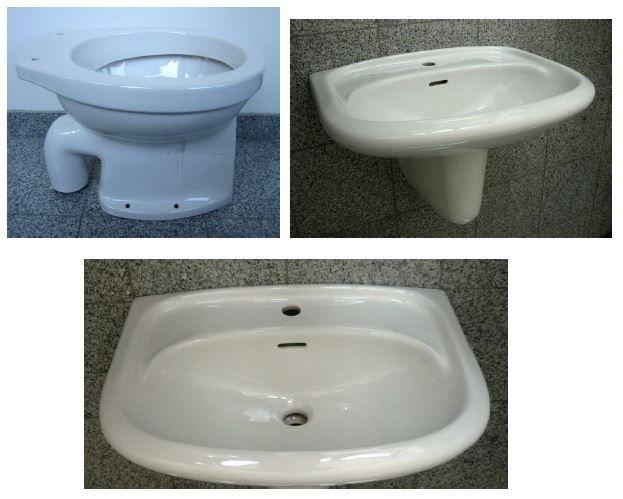 Badezimmer Set In Der Farbe Weiss Mit Folgenden 3 Bestandteilen