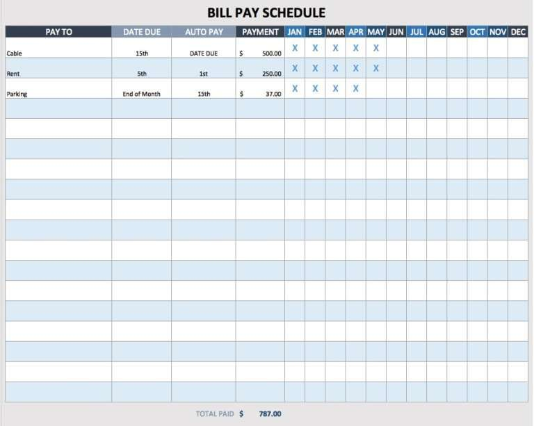 Payment Schedule Templates Schedule Templates Schedule Template