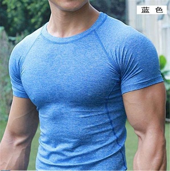 Details about  /1 Compression T-shirt Short Sleeve And Quick Dry For Sports