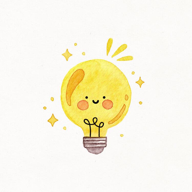 aa09f256282375146760a6c6a778abde » Cute Lightbulb Drawing