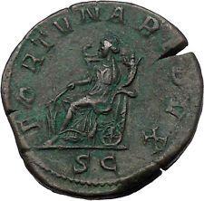 Gordian III 243AD Sestertius Big Rare Ancient Roman Coin Fortuna Luck i54395