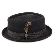 30a4fa411bf Brixton Hats Stout Pork Pie Hat - Black