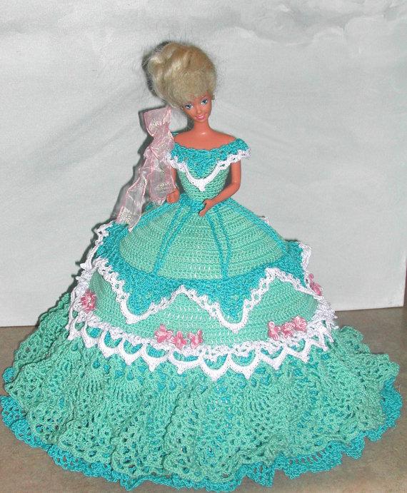 Crochet Fashion Doll Barbie Pattern- #583 COTILLION BALL GOWN #3 ...