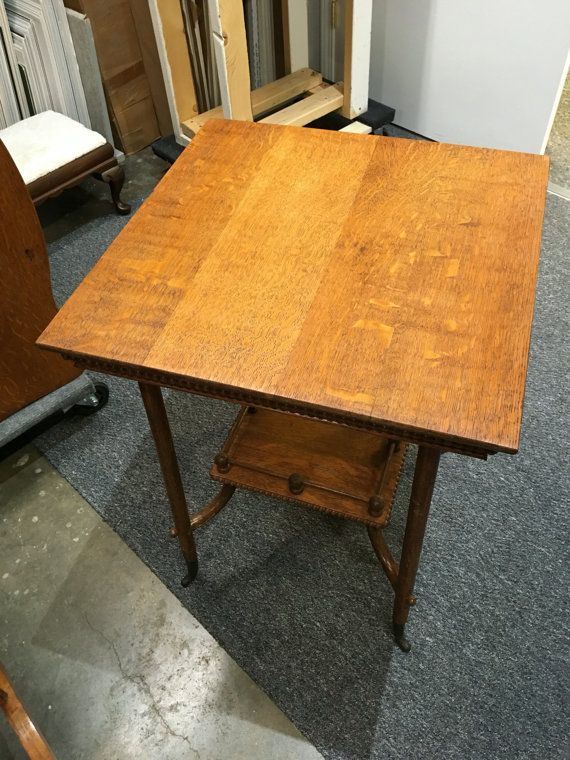 antique oak table curved feet beaded sides 22x22x29h shipping rh pinterest ca