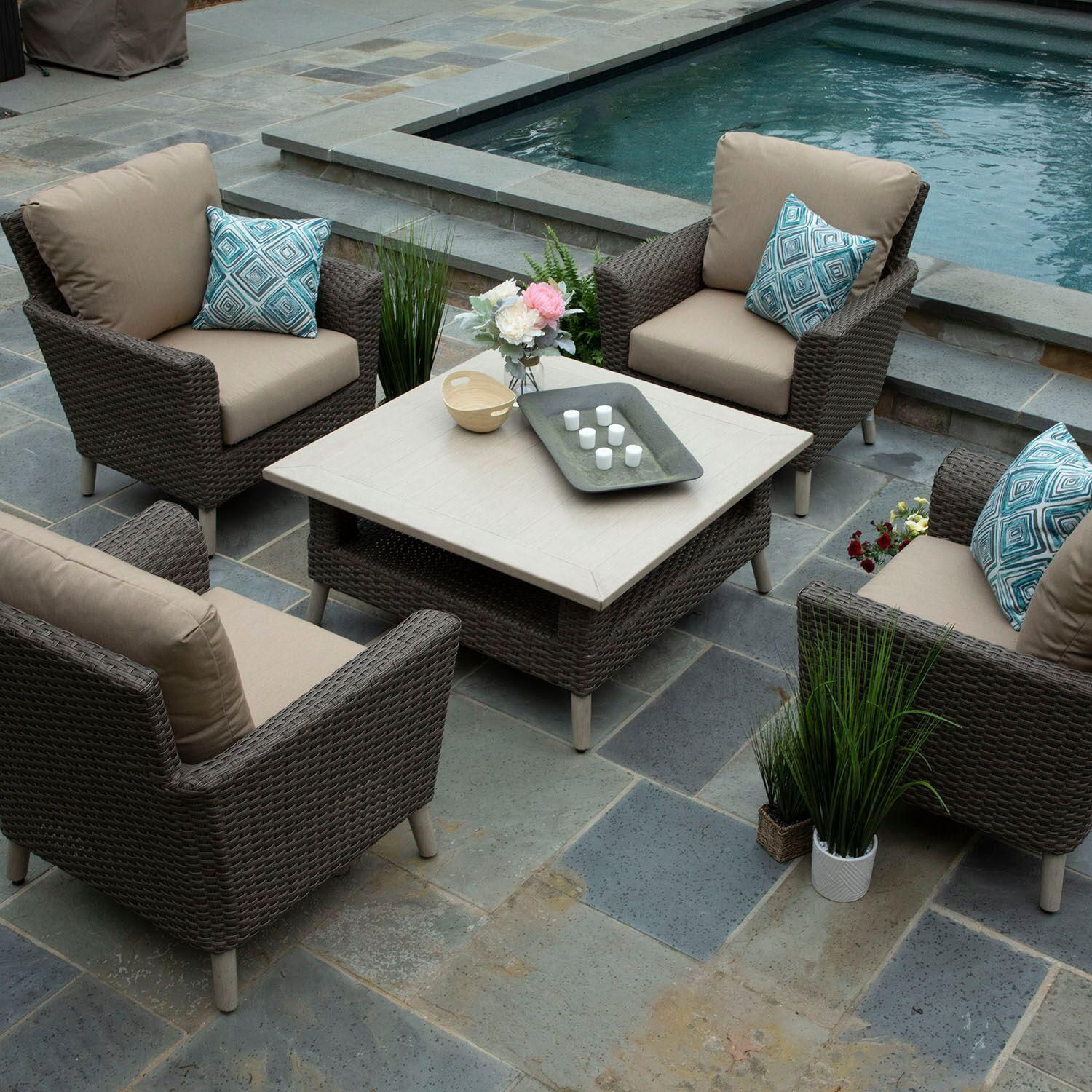 the canopy home and garden 5 piece noble deep seating set is the rh pinterest com