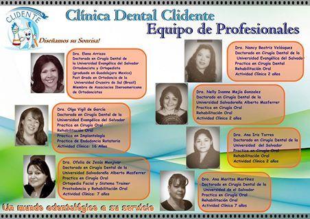 Clínica Dental Clidente, Equipo de Profesionales. Dentista El Salvador