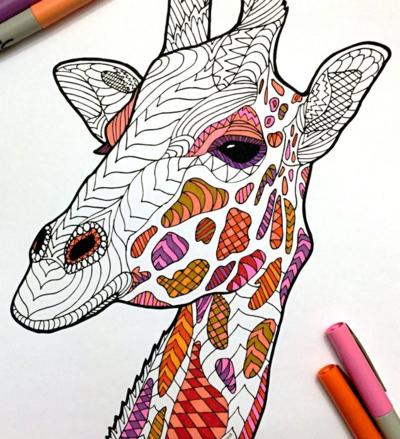 Free Unicorn Printable Coloring Page | Giraffe art ...